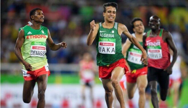 Alžīrijas paralimpieša rezultāts 1500 m distancē dotu viņam uzvaru arī olimpiādē