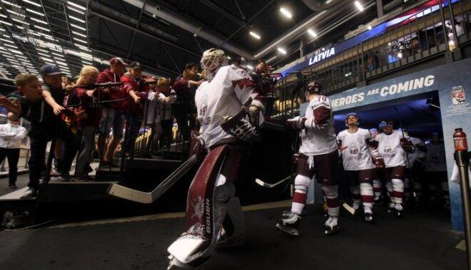 Latvijas hokeja izlase pēc pārcelšanās uz Kopenhāgenu atceļ vakara treniņu