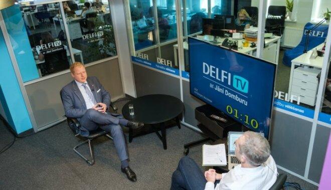 'Delfi TV ar Jāni Domburu': 'Saskaņas' mērs Jakovels un sociāldemokrātu vara Jelgavā
