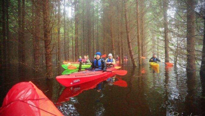 ФОТО: Национальный парк Соомаа в Эстонии, где по лесу и дворам плавают на лодках