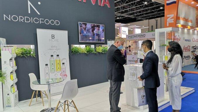 Foto: Latvijas pārtikas ražotāji gūst panākumus izstādē 'Gulfood' Dubaijā