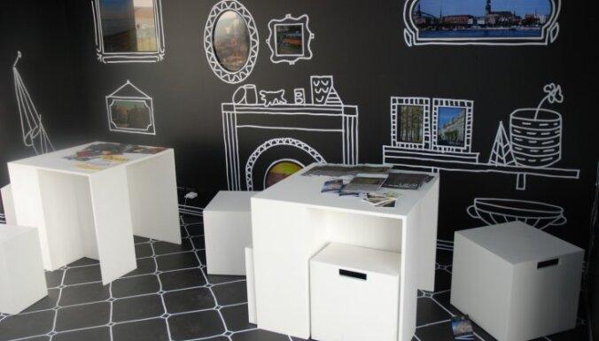 Latvijas paviljona dizains piesaista uzmanību Kannu filmu tirgū