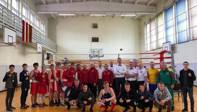 ФОТО: В Паневежисе состоялся боксерский матч между сборными Латвии и Литвы
