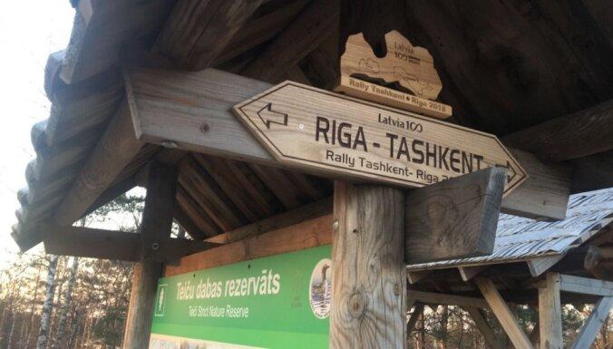 Pirmie rallija 'Taškenta – Rīga' dalībnieki šķērsojuši Latvijas robežu
