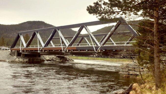 Koka tilts uz Eiropas nozīmes šosejas Norvēģijā – ražots Latvijā