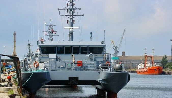 ФОТО: Новый корабль для латвийских военно-морских сил