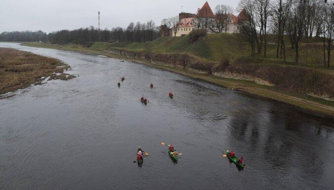Bauskas pusē upes jau gatavas laivošanas sezonai