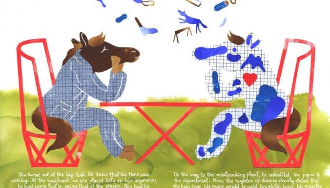 Atklās latviešu grāmatu mākslinieku izstādi 'Zirgs'