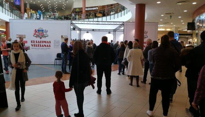 Rīgā lielākā vēlētāju aktivitāte bijusi tirdzniecības centra 'Spice' iecirknī