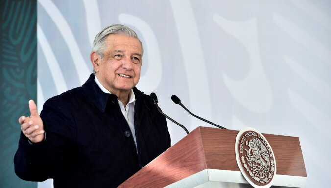 Meksikas prezidentam pozitīvs Covid-19 tests