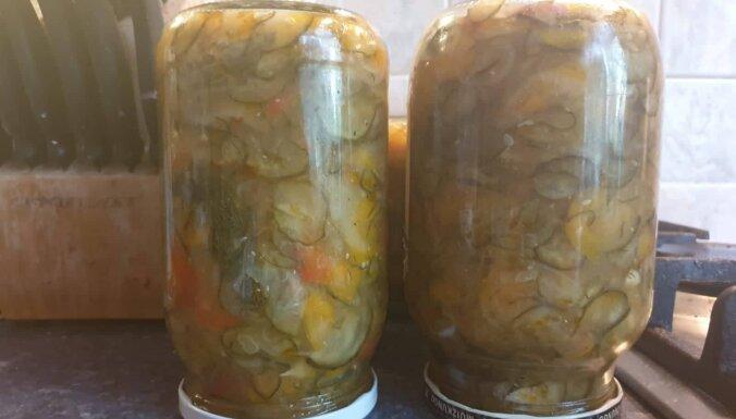 Gardie gurķu salāti ziemai bez pasterizēšanas