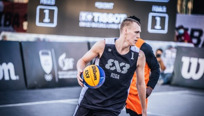 3x3 basketbola komanda 'Rīga' pārvar Dohas posma grupu turnīru