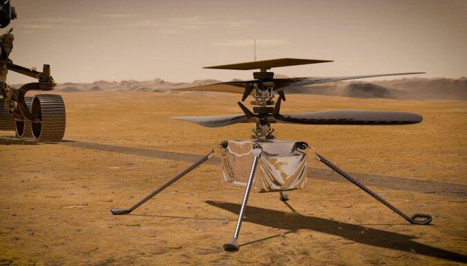 Pirmais helikopters uz Marsa sazvanījis Zemi