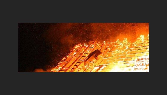 В пожаре под Добеле погибли два человека