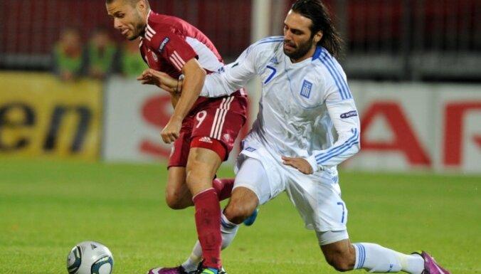 EČ kvalifikācijas spēle: Latvija - Greķija, Verpakovskis, Samaras