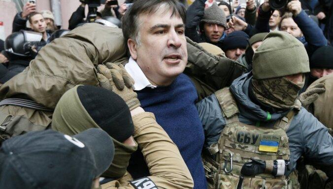 Саакашвили задержали и посадили в изолятор