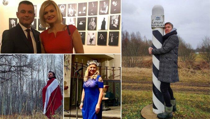 ФОТО: Как знаменитые латвийцы отмечали День независимости