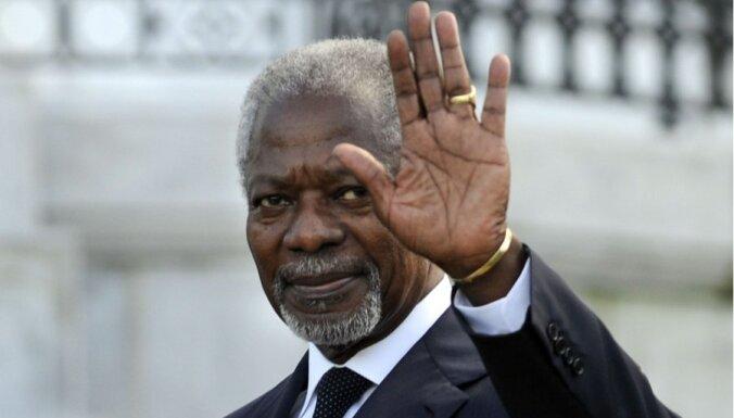 Annans brīdina par sektantu kara sākšanos Sīrijā