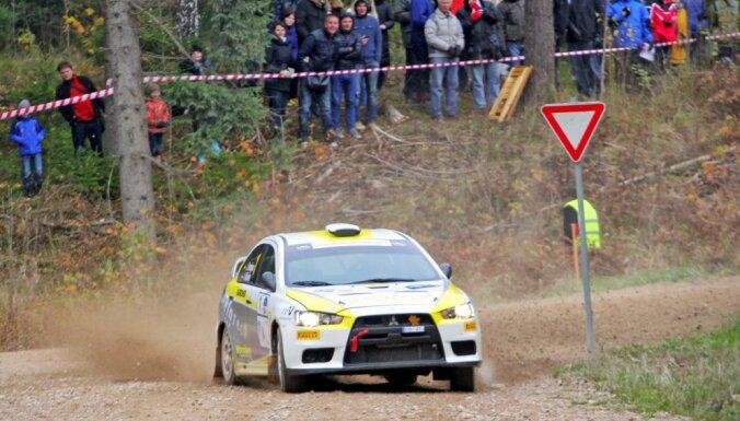 Trīs no četriem Latvijas rallija čempionāta tituliem paliek Latvijā