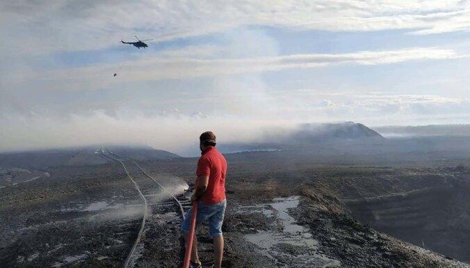 В Литве горит торфяник, его помогает тушить латвийский вертолет