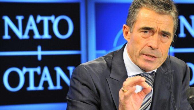 Bijušais NATO vadītājs pauž bažas par Trampa ievēlēšanu