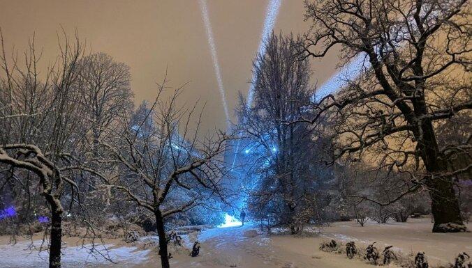 Izgaismoto LU Botānisko dārzu janvārī papildinās ar jaunām gaismas instalācijām