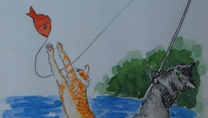 Премьер подарил Затлерсу картину с котами