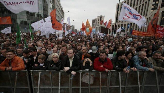 Krievijā notiek opozīcijas protesta akcija 'Miljonu gājiens'
