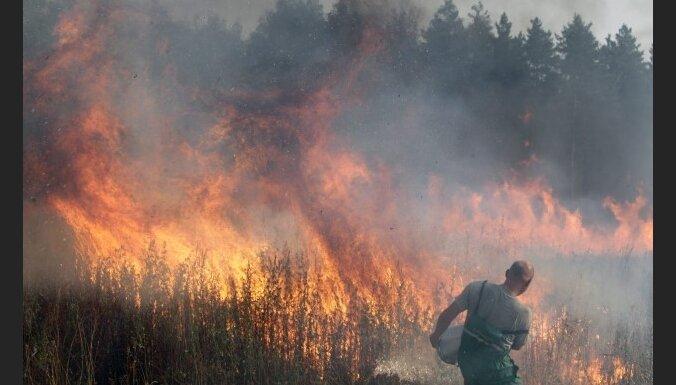 Krievija lūdz Latvijas palīdzību cīņai ar uguni