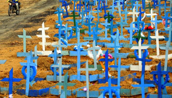 Brazīlijā Covid-19 upuru skaits pārsniedz 300 000