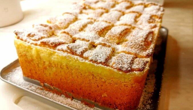 Ābolu kūka ar bagātīgu vārītā krēma pildījumu