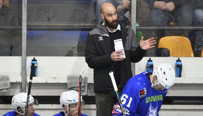 Slovēnijas hokejisti pēc zaudējuma Latvijai atstāj 'sausā' Baltkrieviju