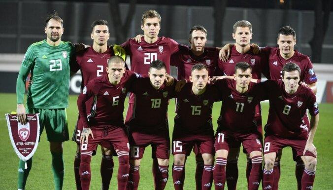 'Covid-19': Latvijas futbola izlase, visticamāk, neaizvadīs spēli pret Sanmarīno