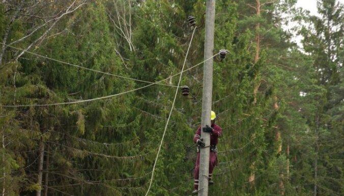 Latgalē vēja dēļ kavēta elektroapgāde aptuveni diviem tūkstošiem 'Sadales tīkla' klientu