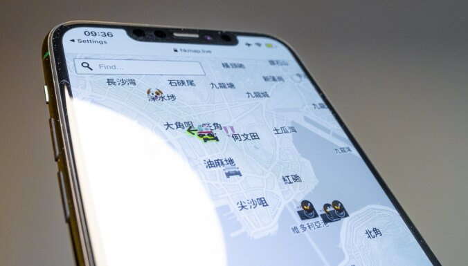'Apple' pēc Ķīnas brīdinājuma izņem Honkongas protestētāju izmantotu lietotni