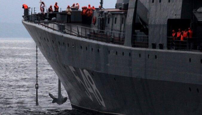 Вблизи водной границы Латвии вновь замечен военный корабль РФ
