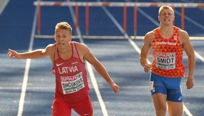 Skrējējs Sinčukovs iekļūst EČ pusfinālā 400 metru barjerskrējienā