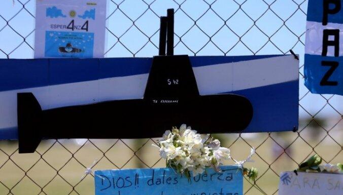 Argentīnas armija noraida pārmetumus par pazudušās zemūdenes slikto tehnisko stāvokli