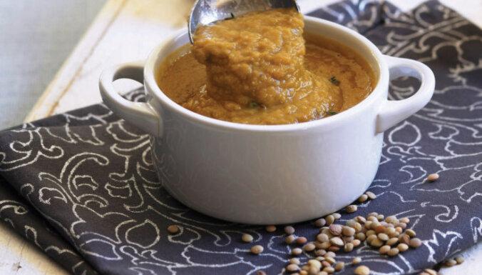Суп-пюре из дробленого гороха с копченой паприкой