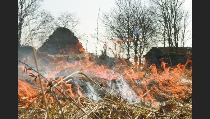 Резко возросло число пожаров прошлогодней травы