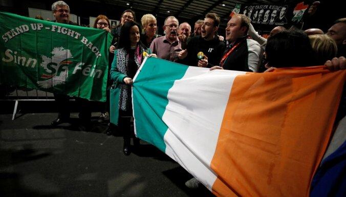 Īrijas parlamenta vēlēšanas: 'Sinn Fein' ierindojas otrajā vietā