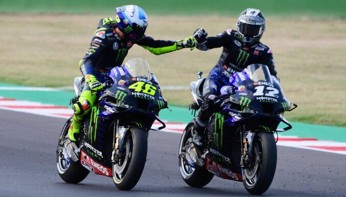 'MotoGP' jaunās sezonas pirmajā posmā uzvaru izcīna Vinjaless