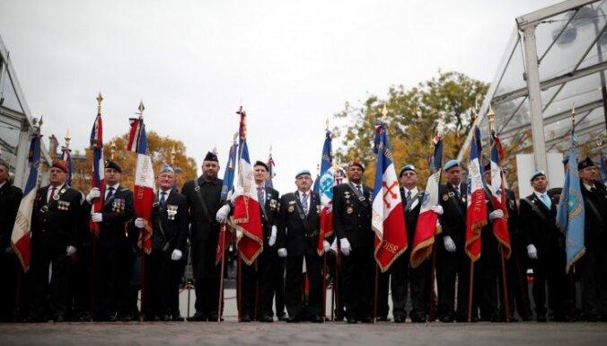 Ārvalstīs notiek pasākumi par godu Pirmā pasaules kara beigu simtgadei