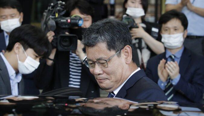 No amata atkāpies Dienvidkorejas apvienošanās ministrs