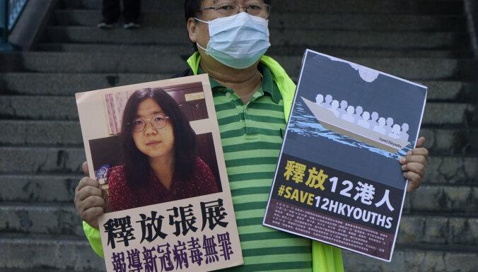 Ķīnā cietumsods piespriests par jaunā koronavīrusa uzliesmojumu Uhaņā ziņojušajai žurnālistei