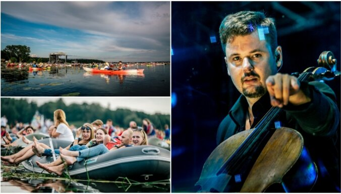 Foto: Krāšņi izskan Latvijā pirmais starpžanru mūzikas festivāls 'Laivā'