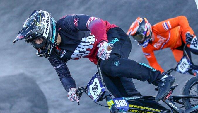 Krīgers izcīna 13. vietu Pasaules kausa BMX superkrosā pirmajā posmā