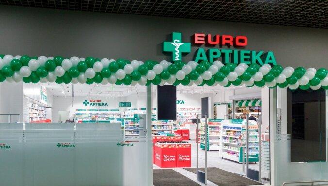 'Euroaptiekas' peļņa pērn palielinājusies līdz 3,22 miljoniem eiro