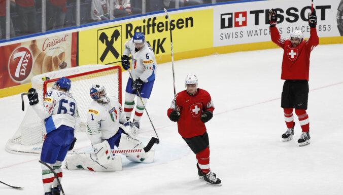 ЧМ-2019: Сборная Швейцарии забросила девять шайб; датчане победили по буллитам