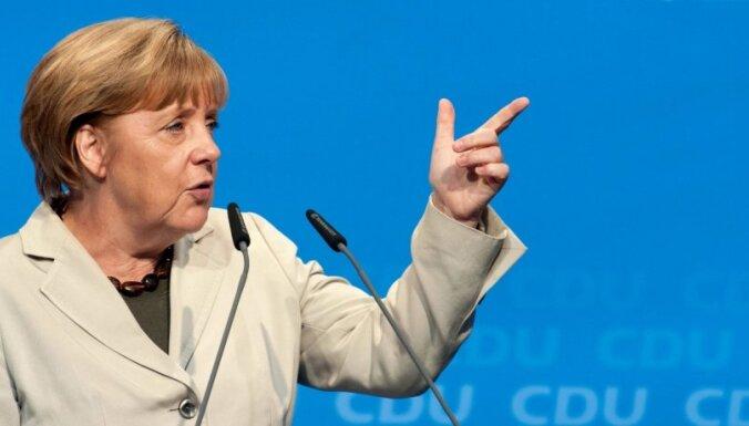 Merkele: NATO aizstāvēs Baltijas valstis Krievijas militāras agresijas gadījumā